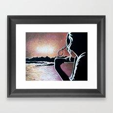 watching the sunset Framed Art Print