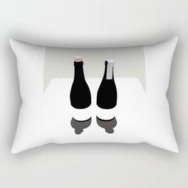 Two botttles Rectangular Pillow