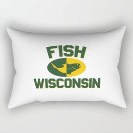 Fish Wisconsin Rectangular Pillow