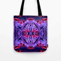 poppies Tote Bags featuring poppies by haroulita