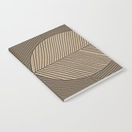 Minimal Tropical Leaves Pastel Beige Notebook