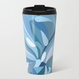 Chrysanthemum in blue Travel Mug
