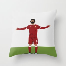Mo Salah - Liverpool Player - Salah Football Poster Throw Pillow