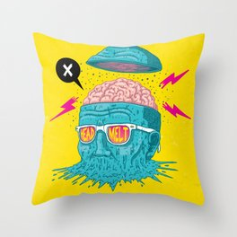 Head Melt Throw Pillow