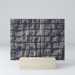 Blue Granite Wall Sawn Squares Mini Art Print