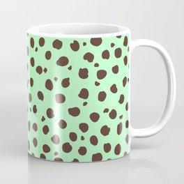 Mint Chocolate Chip - Polka Dot Pattern Coffee Mug