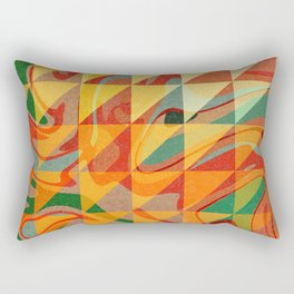 Contemporary Sunny Geometric Design Rectangular Pillow