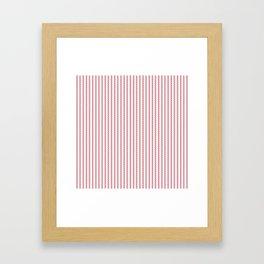 Mattress Ticking Narrow Striped USA Flag Red and White Framed Art Print