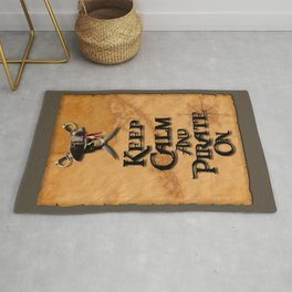 Keep Calm And Pirate On Rug