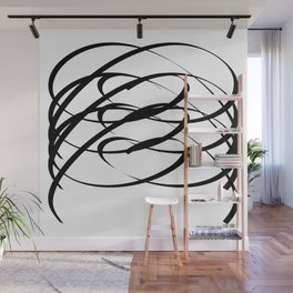 Family - Minimalism Drawing Black White Wall Mural