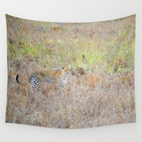 leopard Wall Tapestries featuring Leopard by Sol Fernandez