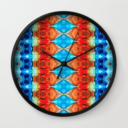 Peace Offering - Pattern Art By Sharon Cummings Wall Clock