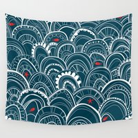 sailing Wall Tapestries featuring sailing by Pardabon