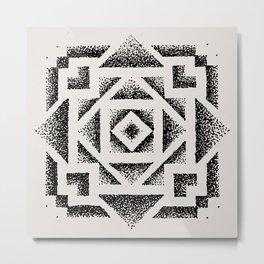 Dotwork Metal Print