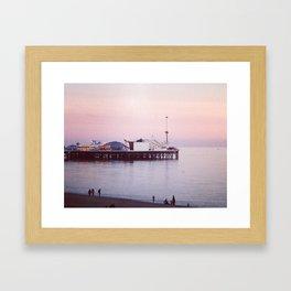 East Pier at Sunrise Framed Art Print