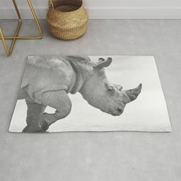 White Rhino Rug