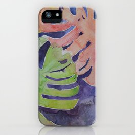 Miami Palms Watercolor Art by Julesofthesea iPhone Case