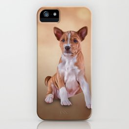 Drawing puppy breed Basenji iPhone Case