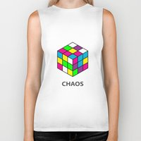 chaos Biker Tanks featuring Chaos by Dizzy Moments