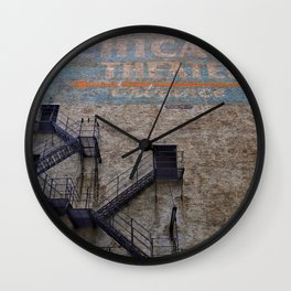 Sign, Chicago Theater Alley Entrance Wall Clock