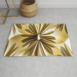 Origami Flowers Golden Tones #decor #society6 #buyart Rug