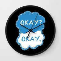 tfios Wall Clocks featuring TFIOS Dots by All Things M
