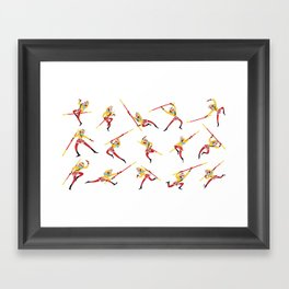 Sun Wukong Pattern Framed Art Print