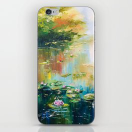 POND WITH WATERLILIES iPhone Skin