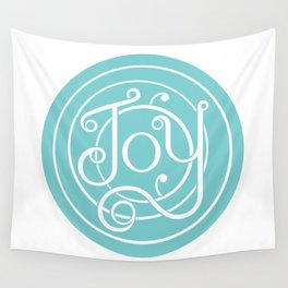Joy (blue) Wall Tapestry