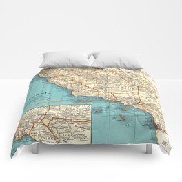 So Cal Surf Map Comforters