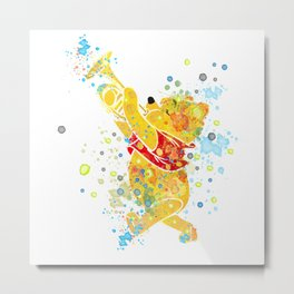 Winnie The Pooh Watercolor Art Metal Print