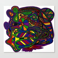 psychadelic Canvas Prints featuring Psychadelic by Groolya