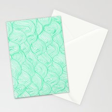 waves / green Stationery Cards