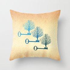 Tree Keys Throw Pillow