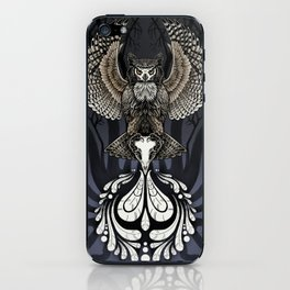 Owl Deck: Ace of Spades iPhone Skin