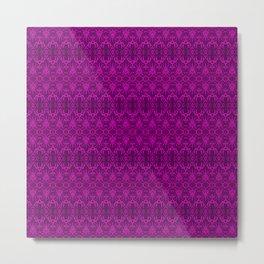 Magenta Damask Pattern Metal Print