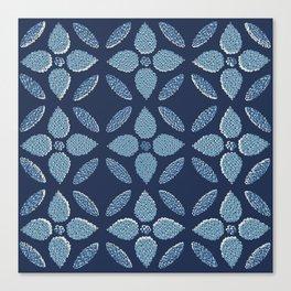 Jaipur Trellis Nantucket Blue Canvas Print