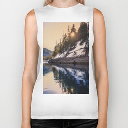 Reflections of a Dream Lake McCloud California Biker Tank