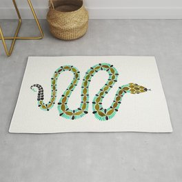Turquoise Serpent Rug