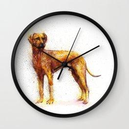 Dog watercolor Wall Clock
