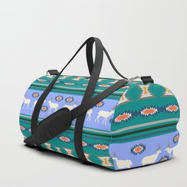 Decorative Christmas pattern with deer II Duffle Bag