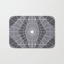 Monochrome Minimalist Geometric Lines Design Bath Mat