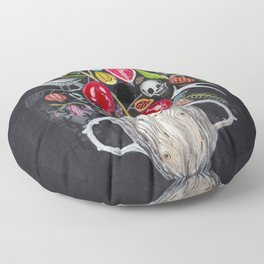 Dark Garden Floor Pillow