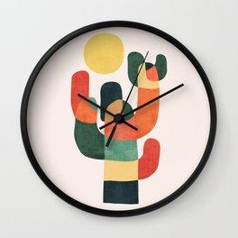Cactus in the desert Wall Clock