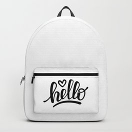 Hello brush lettering Backpack