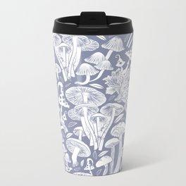 Delicious Autumn botanical poison IV // blue grey background Metal Travel Mug