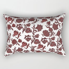 red flowers and foliage . Art Rectangular Pillow