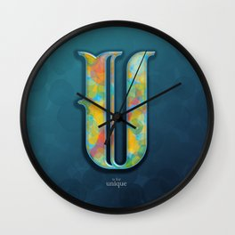 U is for Unique Wall Clock