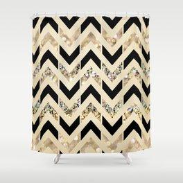 black and cream shower curtain. Black  Gold Glitter Herringbone Chevron on Nude Cream Shower Curtain Curtains Society6