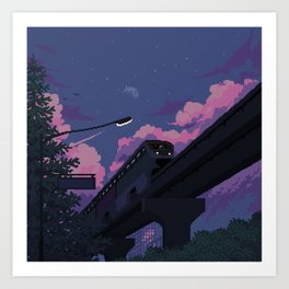 Moonrise twilight Art Print